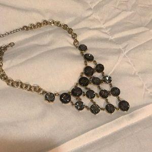 Smokey Chandelier statement necklace